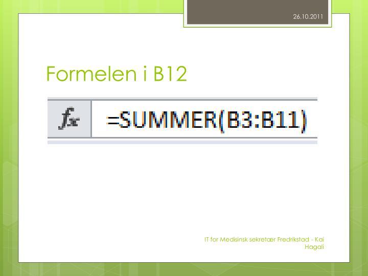Formelen i B12
