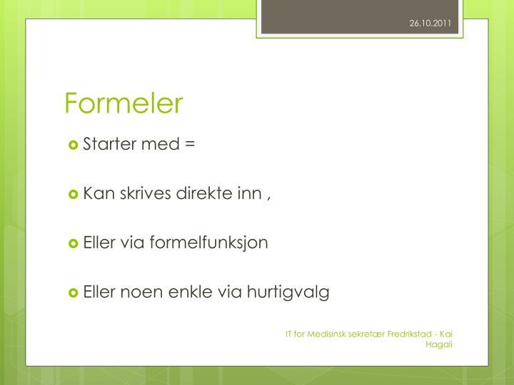 Formeler