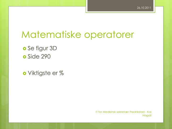 Matematiske operatorer
