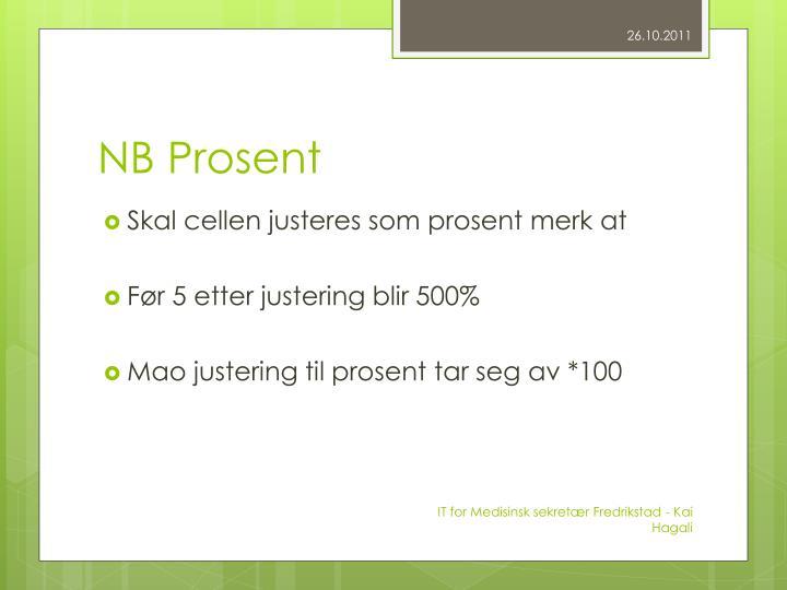 NB Prosent
