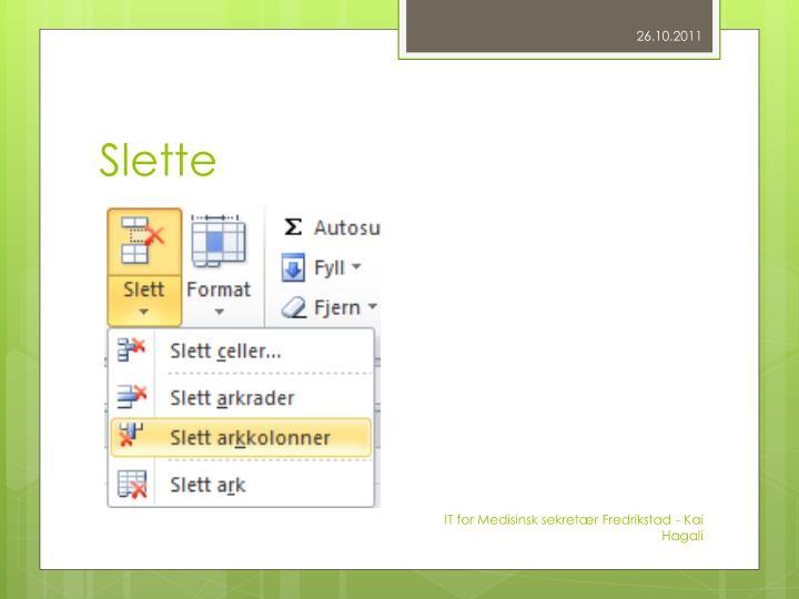 Slette