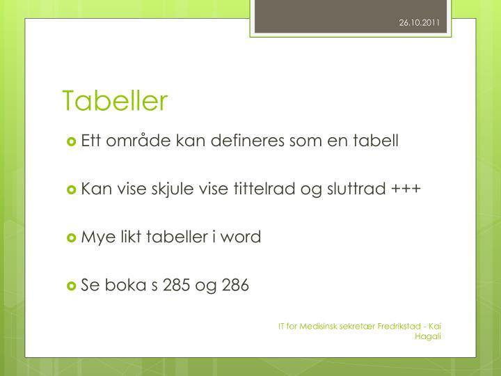 Tabeller