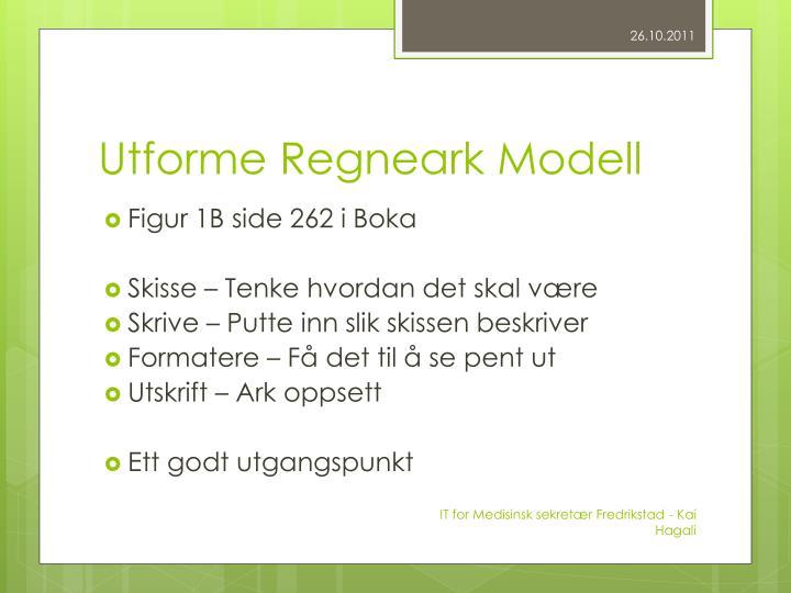 Utforme Regneark Modell