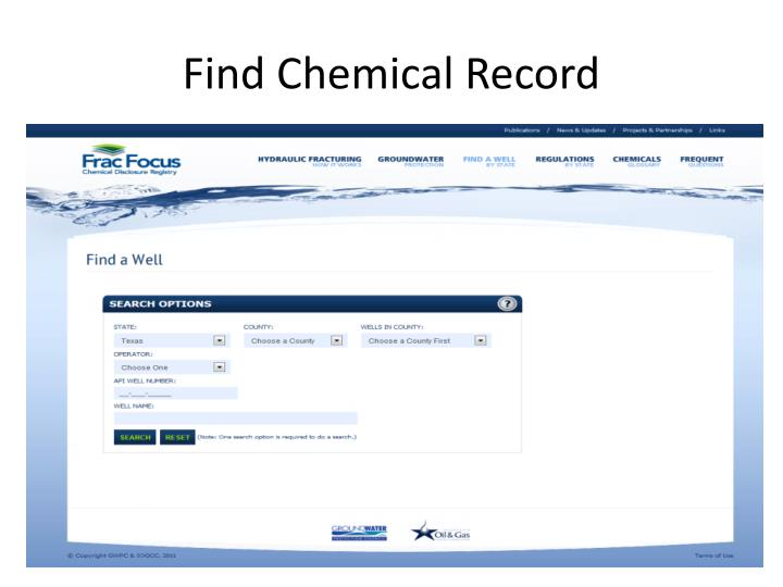 Find Chemical Record