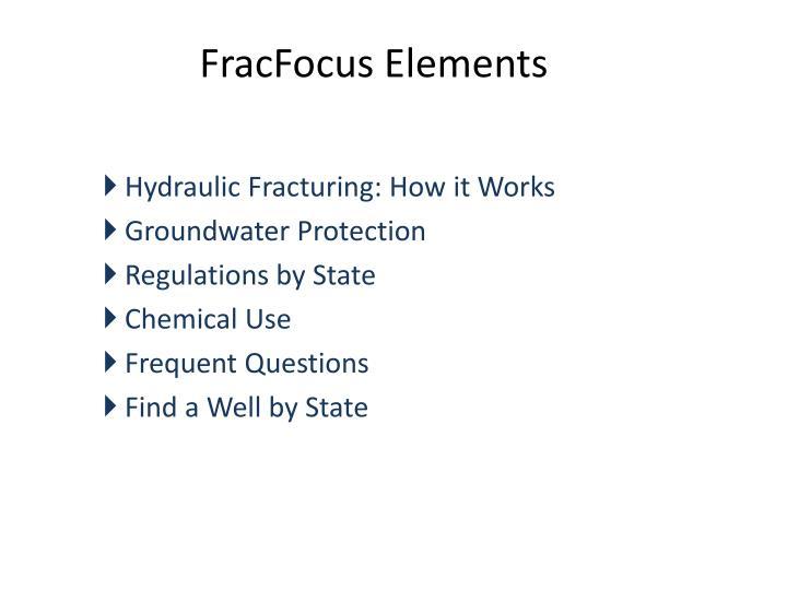 FracFocus Elements
