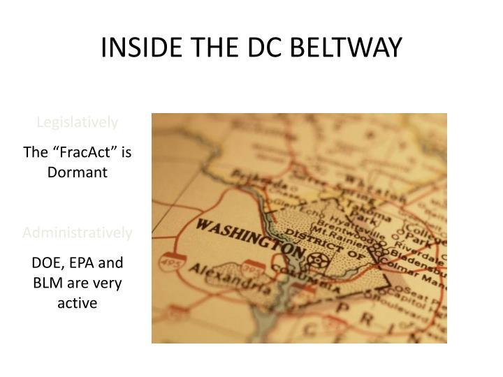 INSIDE THE DC BELTWAY