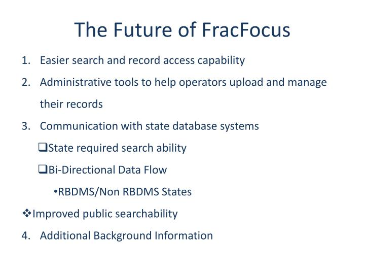 The Future of FracFocus