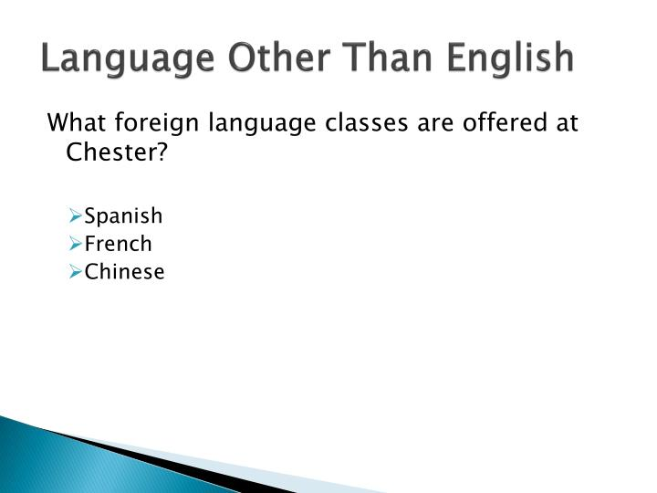 Language Other Than English
