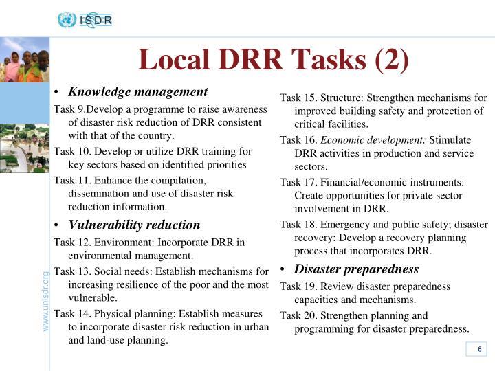 Local DRR Tasks (2)
