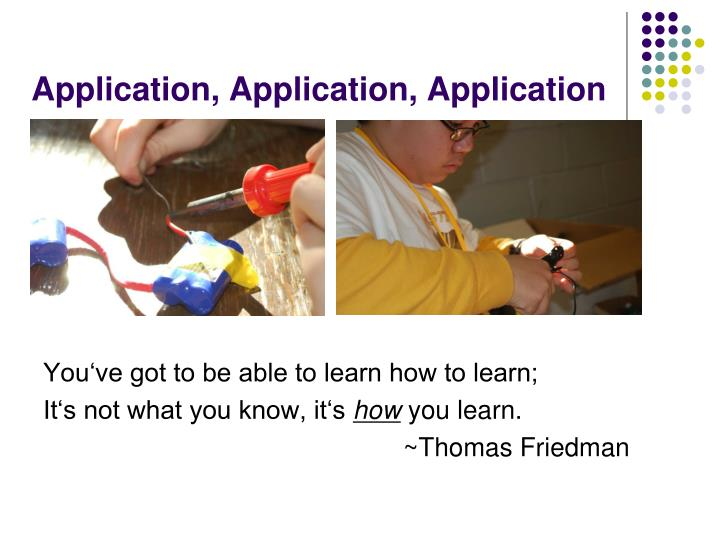 Application, Application, Application