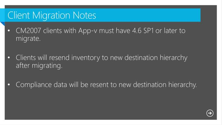 Client Migration Notes