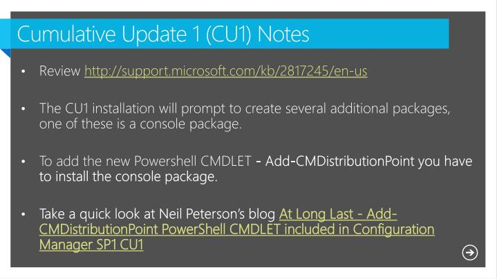 Cumulative Update 1 (CU1) Notes