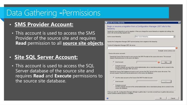 Data Gathering -Permissions
