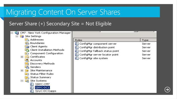 Migrating Content On Server Shares