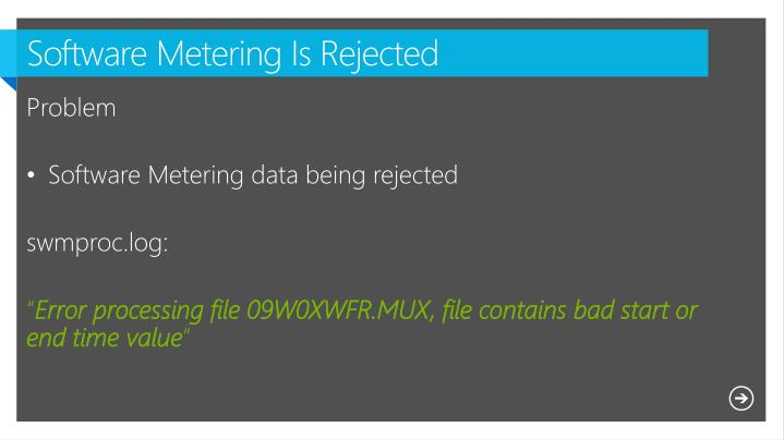 Software Metering Is Rejected