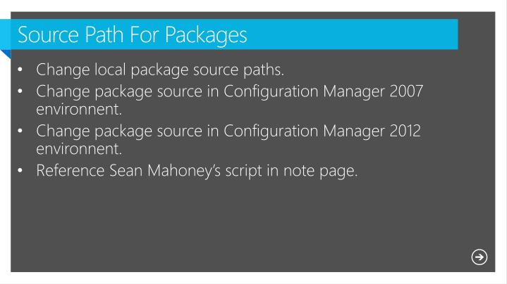 Source Path For Packages