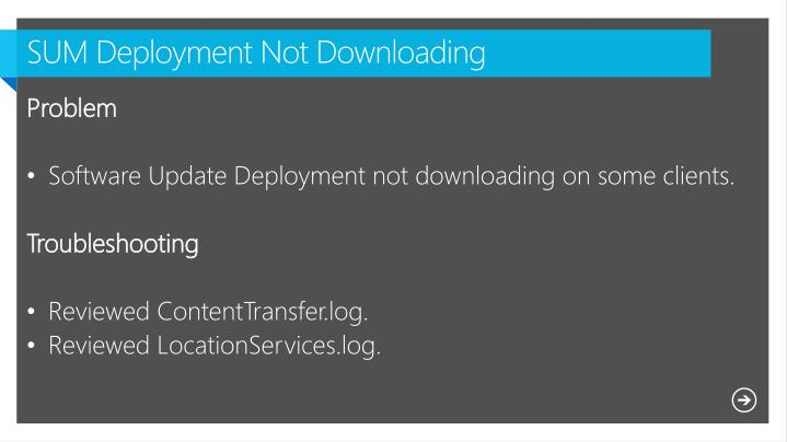 SUM Deployment Not Downloading