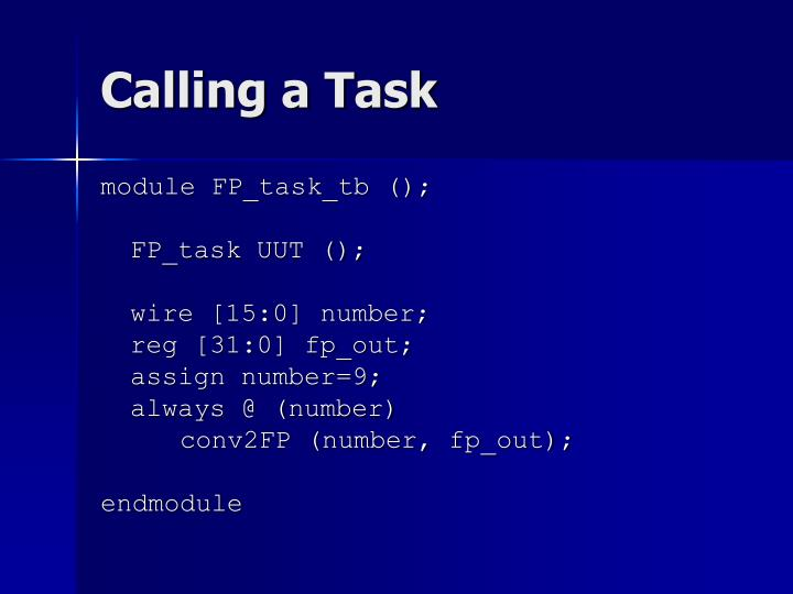 Calling a Task