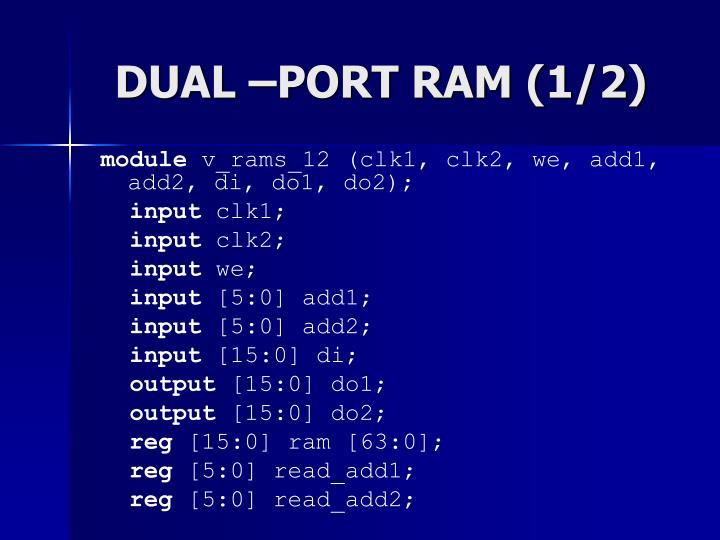 DUAL –PORT RAM (1/2)