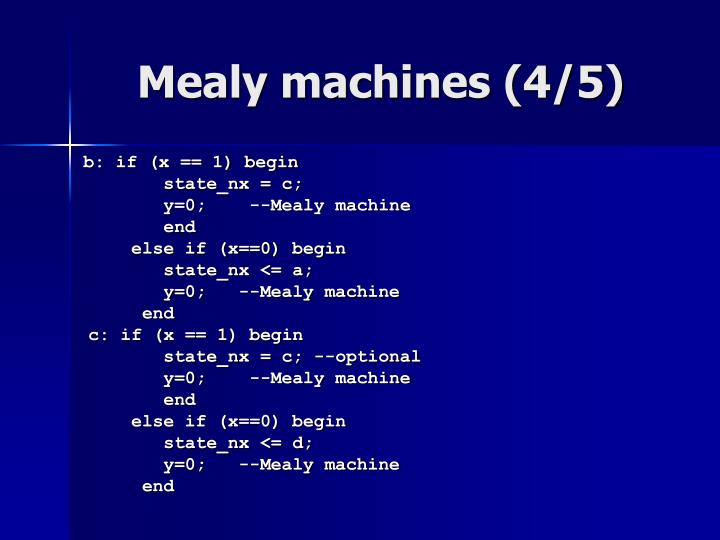 Mealy machines (4/5)