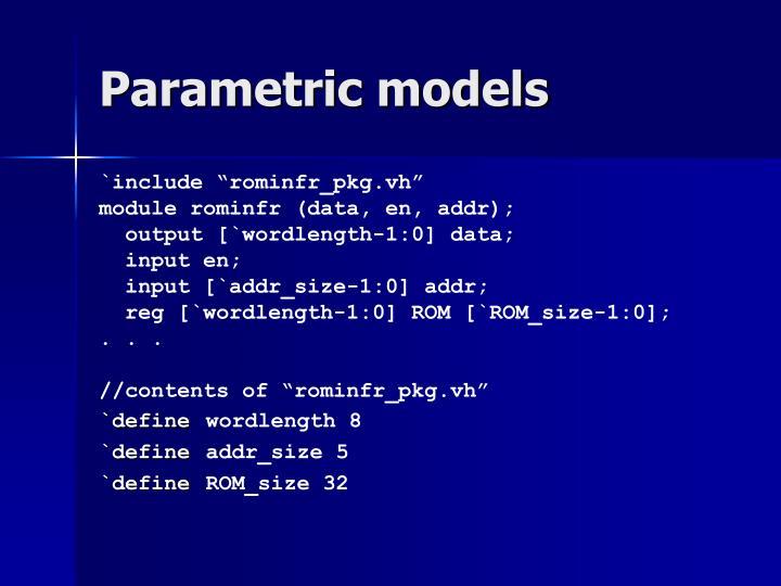 Parametric models