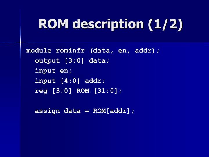 ROM description (1/2)