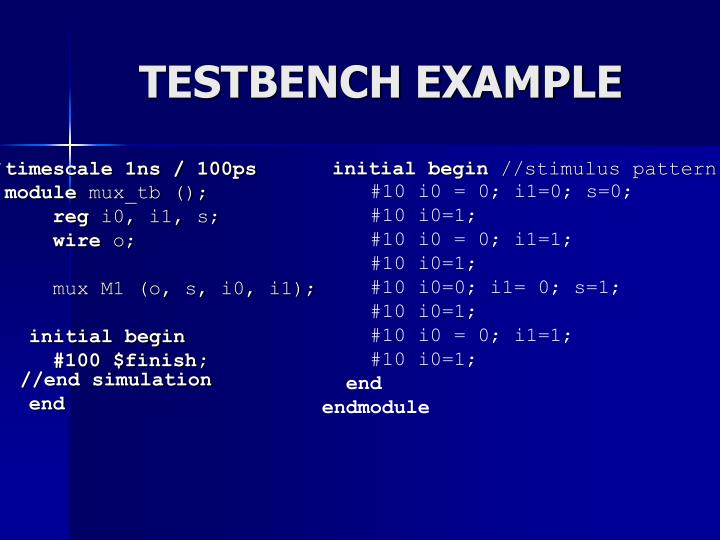 TESTBENCH EXAMPLE