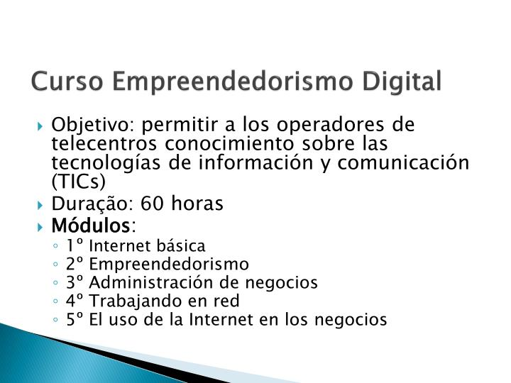 Curso Empreendedorismo Digital