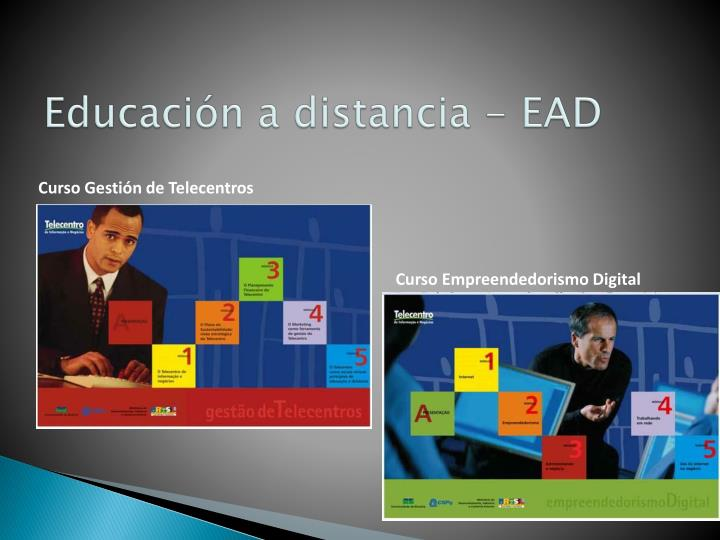 Educaci n a distancia ead