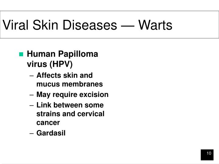 Viral Skin Diseases — Warts