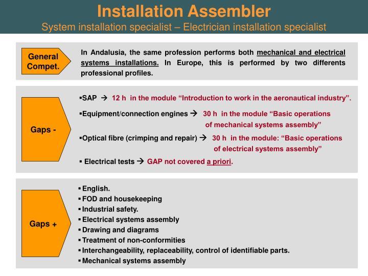 Installation Assembler