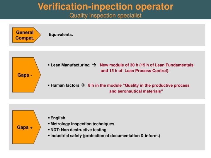Verification-inpection operator
