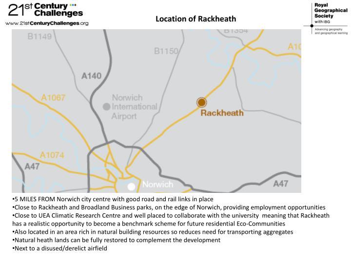 Location of Rackheath