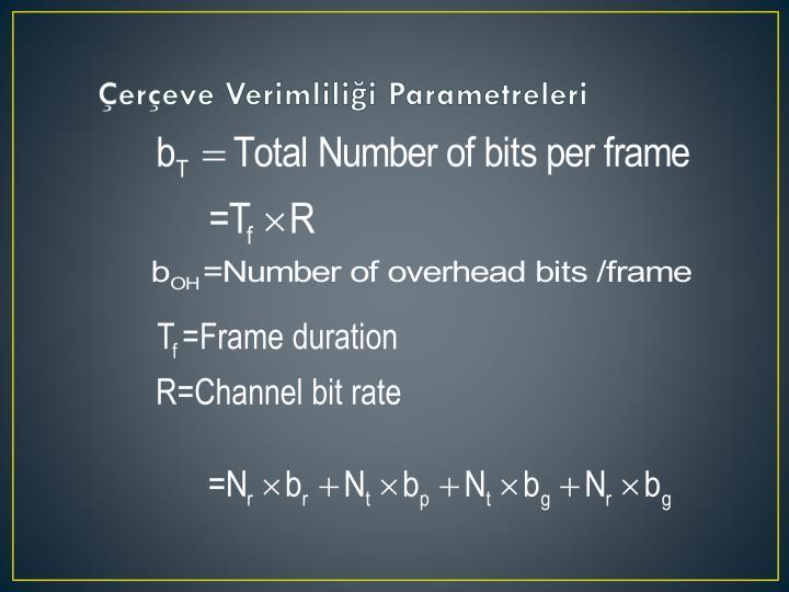 Çerçeve Verimliliği Parametreleri