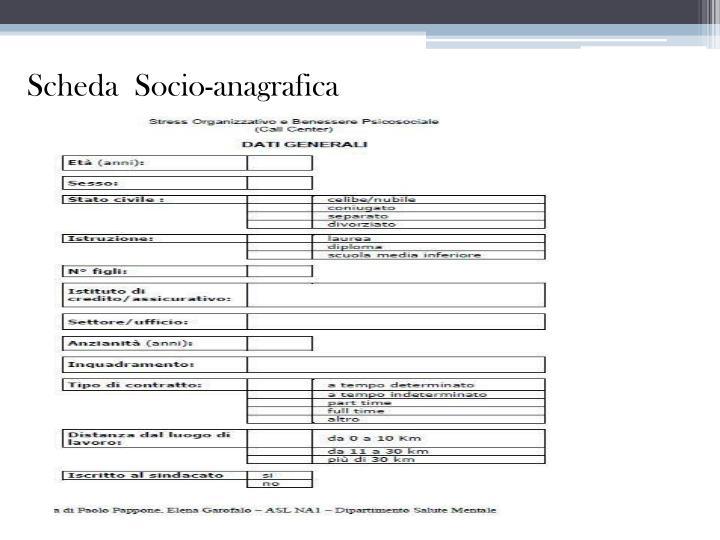 Scheda  Socio-anagrafica