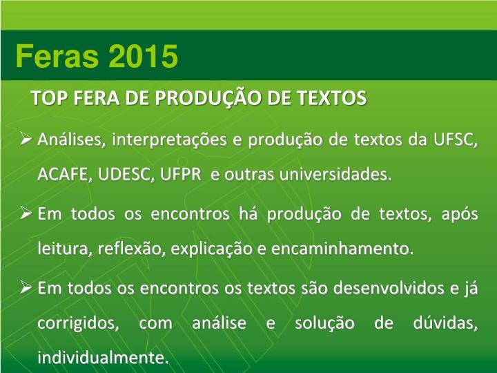TOP FERA DE PRODUÇÃO DE TEXTOS