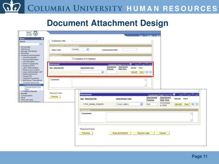 Document Attachment Design