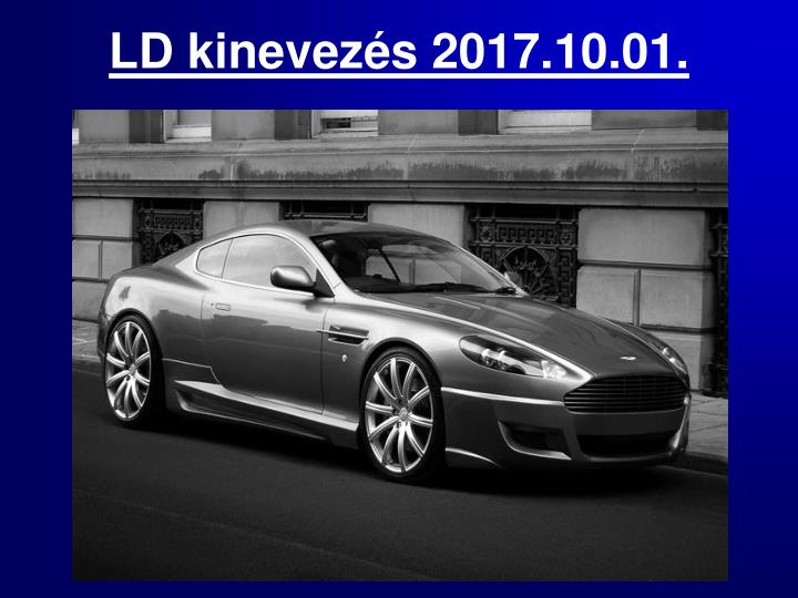 LD kinevezés 2017.10.01.