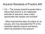 actuarial standards of practice 2011