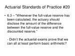 actuarial standards of practice 2012