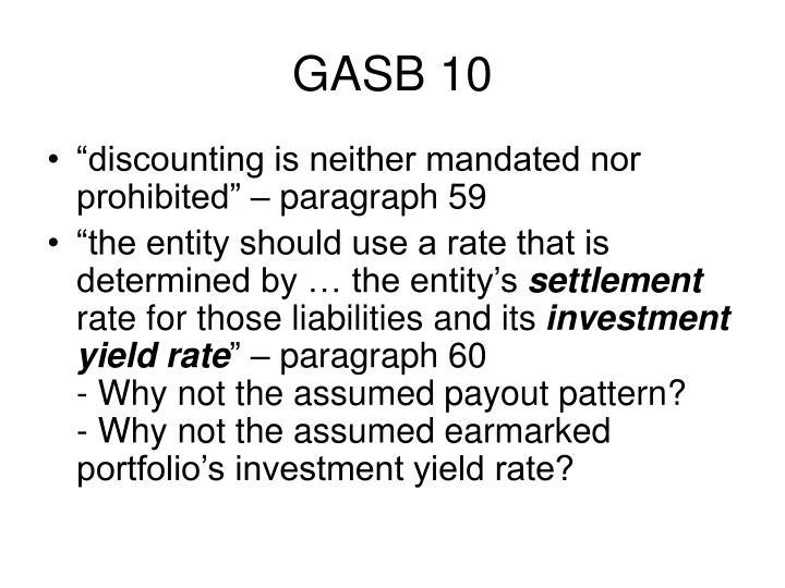 GASB 10