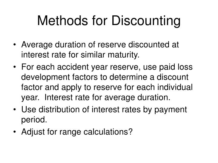 Methods for Discounting