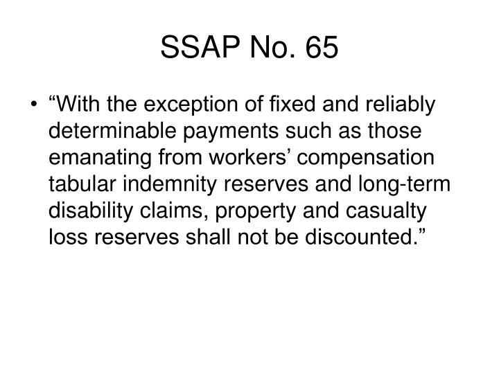 SSAP No. 65