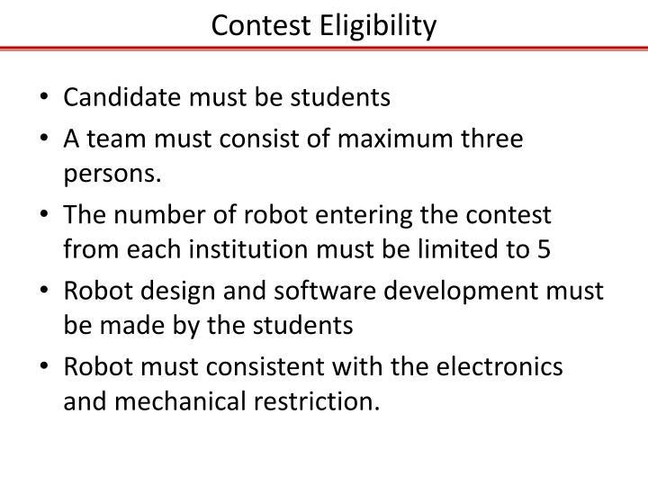 Contest Eligibility