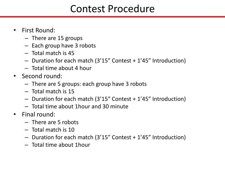 Contest Procedure