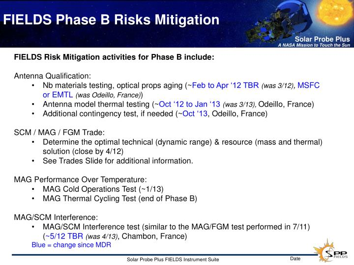 FIELDS Phase B Risks Mitigation