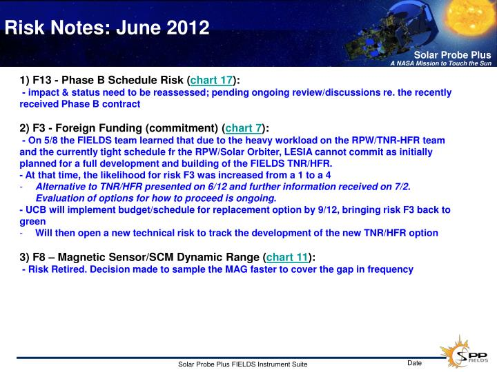 Risk notes june 2012