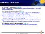 risk notes june 2012
