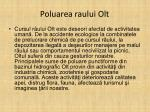 poluarea raului olt