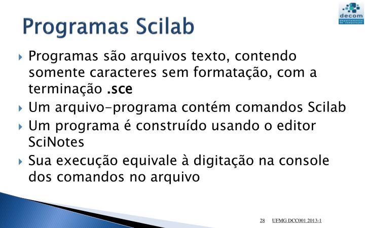 Programas Scilab
